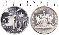 Изображение Монеты Тринидад и Тобаго 10 долларов 1976 Серебро Proof-