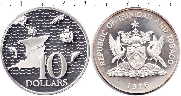 Картинка Монеты Тринидад и Тобаго 10 долларов Серебро 1976