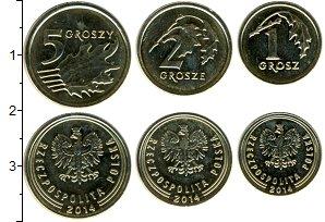 Изображение Наборы монет Польша Польша 2014 2014 Медно-никель UNC- В наборе 3 монеты но