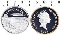 Изображение Монеты Соломоновы острова 25 долларов 2003 Серебро Proof- Елизавета 2. Дуглас