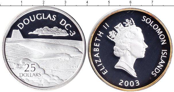 Картинка Монеты Соломоновы острова 25 долларов Серебро 2003