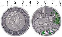 Изображение Монеты Ниуэ 1 доллар 2008 Серебро Proof- Елизавета 2. Год бык