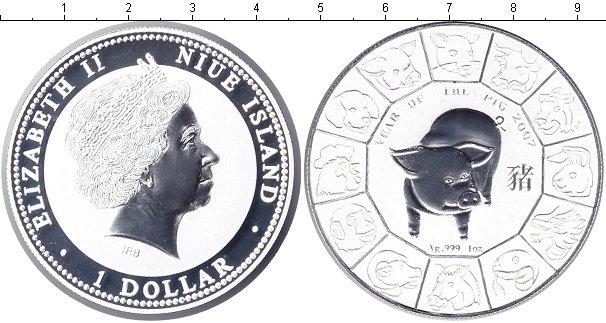 Картинка Монеты Ниуэ 1 доллар Серебро 2007