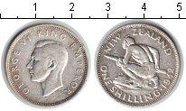 Изображение Монеты Новая Зеландия 1 шиллинг 1942 Серебро XF Георг VI