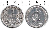 Изображение Монеты Немецкая Африка 1 рупия 1914 Серебро XF Вильгельм II