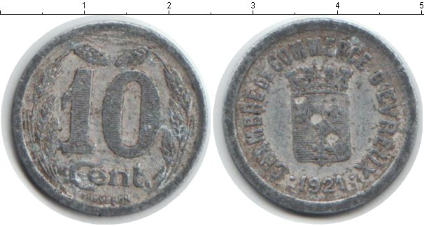 Картинка Монеты Франция 10 сантим Алюминий 1921