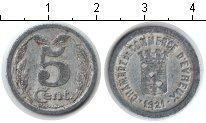 Изображение Монеты Франция 5 сантим 1921 Алюминий XF Жетон г. Эвре