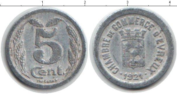 Картинка Монеты Франция 5 сантим Алюминий 1921