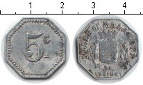 Изображение Монеты Франция 5 сантим 0 Алюминий XF Жетон г.Малакофф