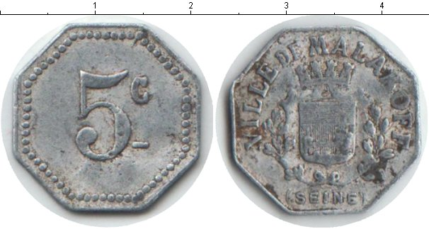 Картинка Монеты Франция 5 сантим Алюминий 0