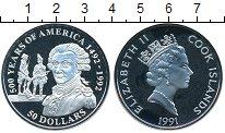 Изображение Монеты Острова Кука 50 долларов 1991 Серебро Proof- Елизавета II. 500 ле