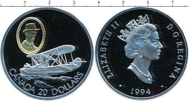 Картинка Монеты Канада 20 долларов Серебро 1994
