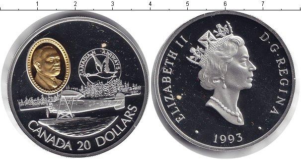 Картинка Монеты Канада 20 долларов Серебро 1993