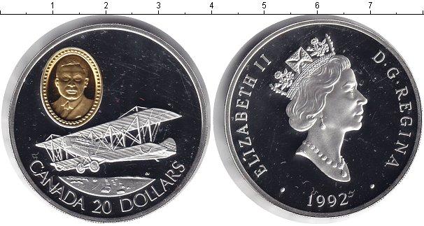 Картинка Монеты Канада 20 долларов Серебро 1992
