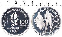 Изображение Монеты Франция 100 франков 1991 Серебро Proof- Альбертвиль 92