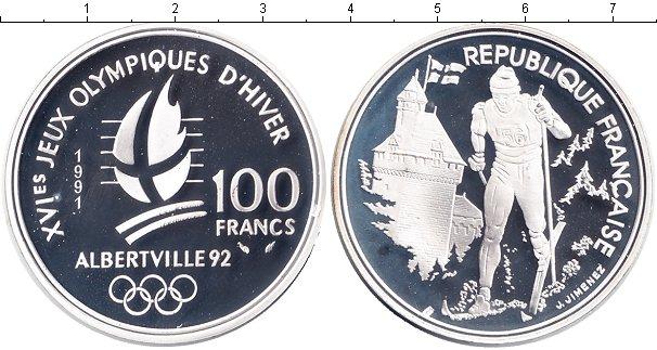 Картинка Монеты Франция 100 франков Серебро 1991