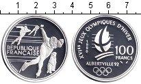 Изображение Монеты Франция 100 франков 1990 Серебро Proof-