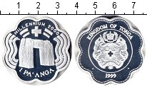 Изображение Монеты Тонга 1 паанга 1999 Серебро Proof-