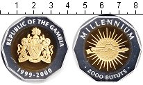 Изображение Монеты Гамбия 2000 бутут 2000 Биметалл Proof- Миллениум