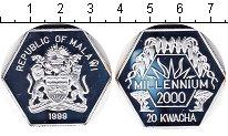 Изображение Монеты Малави 20 квач 1999 Серебро Proof- Миллениум