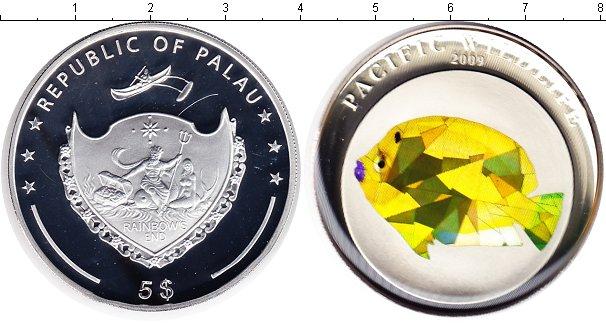 Картинка Монеты Палау 5 долларов Серебро 2009