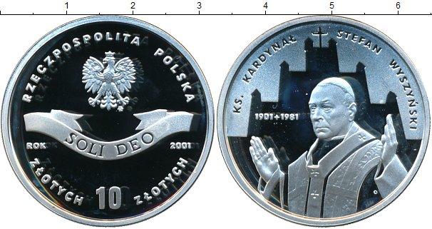 Картинка Монеты Польша 10 злотых Серебро 2001