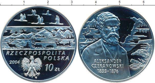 Картинка Монеты Польша 10 злотых Серебро 2004