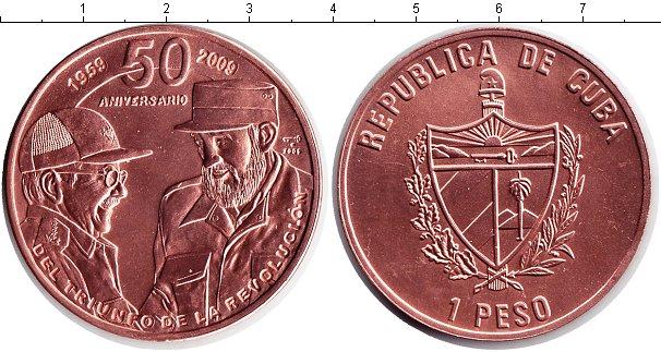 Картинка Монеты Куба 1 песо Медь 2009