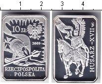 Изображение Монеты Польша 10 злотых 2009 Серебро Proof- Гусар XVII