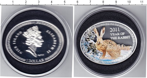 Картинка Подарочные монеты Ниуэ 1 доллар Серебро 2011