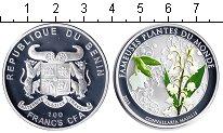 Изображение Монеты Бенин 100 франков 2011 Серебро Proof- Ландыш