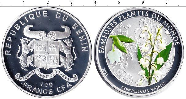 Картинка Монеты Бенин 100 франков Серебро 2011