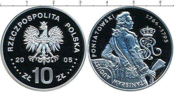 Картинка Монеты Польша 10 злотых Серебро 2005
