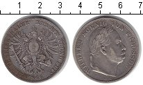 Изображение Монеты Пруссия 1 талер 1866 Серебро XF Вильгельм I