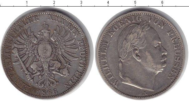 Картинка Монеты Пруссия 1 талер Серебро 1866