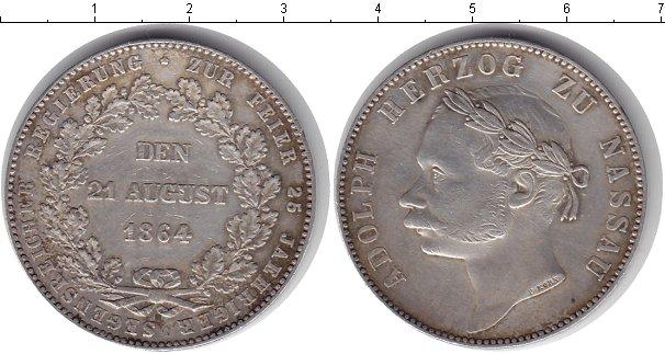 Картинка Монеты Нассау 1 талер Серебро 1864
