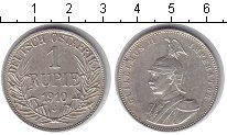 Изображение Монеты Немецкая Африка 1 рупия 1910 Серебро XF Вильгельм II