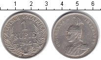 Изображение Монеты Немецкая Африка 1 рупия 1905 Серебро XF Вильгельм II