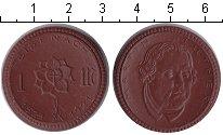 Изображение Монеты Нотгельды 1 марка 1921 Фарфор UNC- Мартин Лютер.