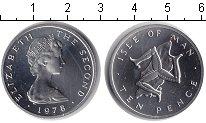 Изображение Монеты Остров Мэн 10 пенсов 1978 Медно-никель Proof Елизавета II