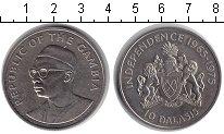 Изображение Монеты Гамбия 10 даласи 1975 Медно-никель XF 10 лет независимости