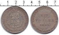 Изображение Монеты Гессен 1 талер 1842 Серебро XF Вильгельм II.