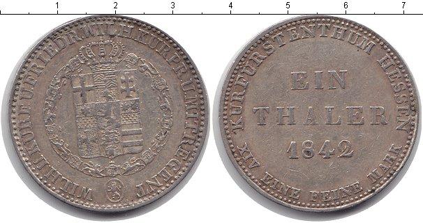 Картинка Монеты Гессен 1 талер Серебро 1842