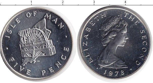 Картинка Монеты Остров Мэн 5 пенсов Медно-никель 1978