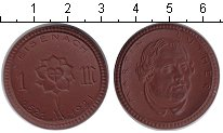 Изображение Монеты Веймарская республика 1 марка 1921 Фарфор UNC- Мартин Лютер.