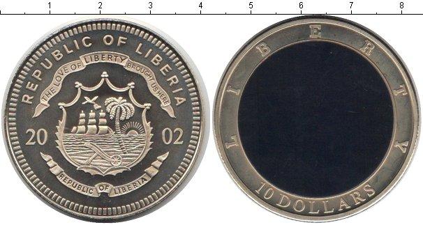 Картинка Монеты Либерия 10 долларов Медно-никель 2002