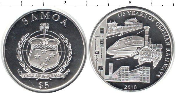 Картинка Монеты Самоа 5 долларов Серебро 2010
