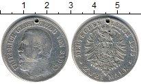 Изображение Монеты Германия Баден 2 марки 1876 Серебро