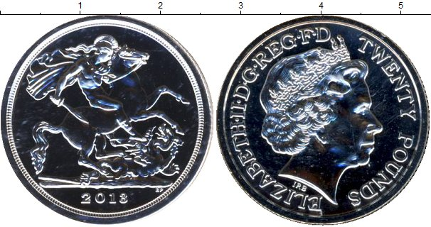 Картинка Подарочные монеты Великобритания Георгий Победоносец Серебро 2013