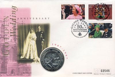 Изображение Монеты Теркc и Кайкос 5 крон 1997 Медно-никель UNC Подарочная монета по